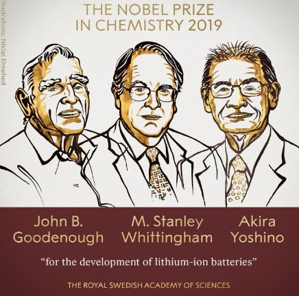 Breaking: Nobel Prize in Chemistry awarded to John Goodenough, Stanley Whittingham and Akira Yoshino