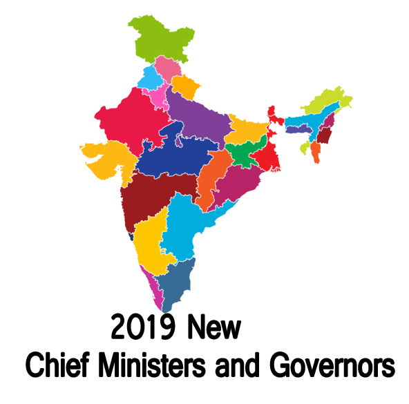 नए मुख्यमंत्री और राज्यपाल 2019 (New Chief Minister and Governors)