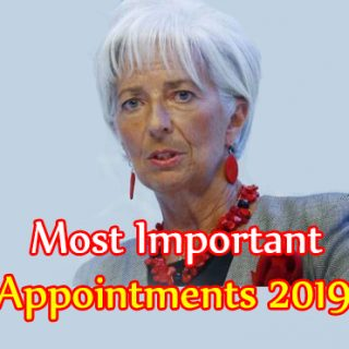 most important appointments 2019 | महत्वपूर्ण नियुक्तियां